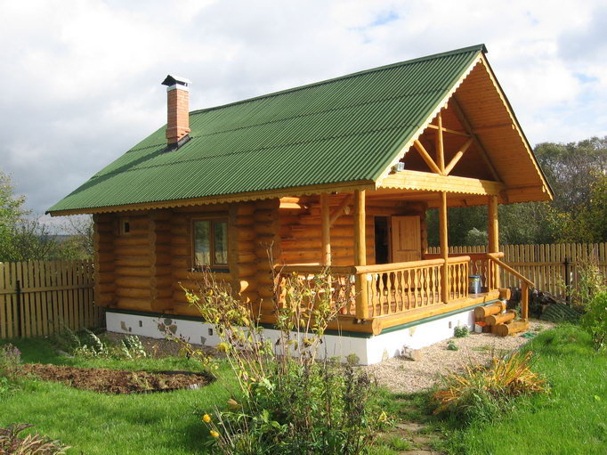 Строительство деревянного дачный дома своими руками